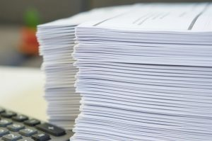 stack of official documents